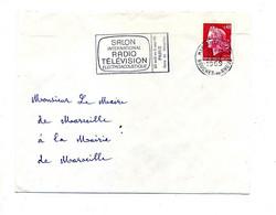 Lettre Flamme Marseille Salon Radio Television - Annullamenti Meccanici (pubblicitari)