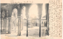 POSTAL  GRANADA  -ANDALUCIA  -ALHAMBRA-PATIO DE LOS LEONES - Granada