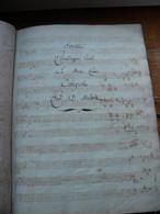 2 Anciennes Partition Manuscrites. 1) Sonate Pour Le Forte Piano. D Steibelt. 2) Idem Mais Dédié à Reine De Westphalie - Noten & Partituren
