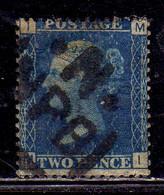 GREAT BRITAIN GRAN BRETAGNA 1858 1869 QUEEN VICTORIA REGINA VITTORIA TWO PENCE 2p USED USATO OBLITERE' - Used Stamps