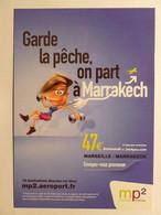 AEROPORT MARSEILLE PROVENCE MP2 / AVION - Femme Avec Haltères - Vols Vers Marrakech - Carte Publicitaire - Otros