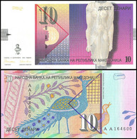 ♛ MACEDONIA - 10 Denari 08.09.1996 {Narodna Banka Na Republika Makedonija} UNC P.14 A - Macedonia