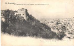 POSTAL  GRANADA  -ANDALUCIA  -VISTA GENERAL DE LA ALHAMBRA DESDE EL GENERALIFE - Granada
