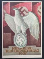 Deutsches Reich 1937, Postkarte Reichparteitag NÜRNBERG Sonderstempel - Herzstück Block 11 - Storia Postale