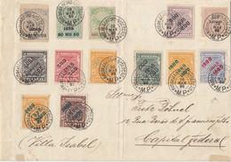 GOOD OLD BRAZIL Postal Cover 1899 - Super Stamped - High Value - Cartas