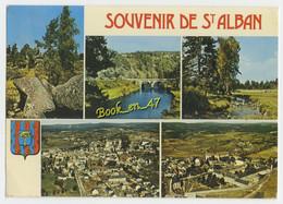 {60912} 48 Lozère Saint Alban , Multivues ; Divers Aspects , Vue Générale , Pont - Saint Alban Sur Limagnole