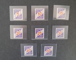 Liechtenstein Timbres Taxe Yvert 13 à 20 Neufs** Et Oblitérés° - Postage Due