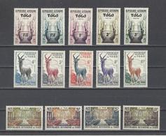TOGO.  YT   N° 261/274   Neuf **  1957 - Togo (1960-...)