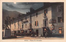 """2300""""SUSA (TORINO)-PIAZZA IV NOVEMBRE"""" CORSO TRIESTE1941 PUBBLICITA' CORA - Autres Villes"""
