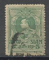 Siam -Thaïlande 1922-23 Y&T N°173 - Michel N°168 (o) - 5s Vajiravudh - Siam