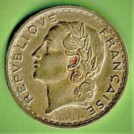 5 FRANCS / 1939 / LAVRILLIER / TTB - J. 5 Francs