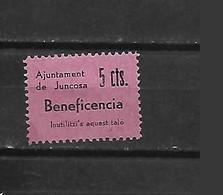 ESPANA ESPAGNE BENEFICENCIA AJUNTAMENT DE JUNCOSA   NEUF CHARNIERE LEGERE MLH - Bienfaisance