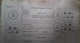 G 7 Lettre/document/facture     Poste Rurale Document Neuf  Petits Défauts Non Utilisé - Lettres & Documents