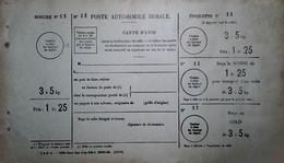 G 7 Lettre/document/facture     Poste Rurale Document Neuf  Petits Défauts Non Utilisé  Traces Humidité - Lettres & Documents