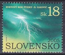Slowakei Slovakia 2005 Wissenschaft Science Physik Physics Blitz Lightning Thunderbolt Wetter Weather UNO, Mi. 514 ** - Neufs