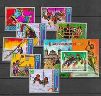 Olympische Spelen 1972 , Guinea Equatorial - Zegels + Blok Postfris - Ete 1972: Munich