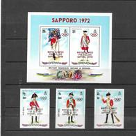 Olympische Spelen 1972 , Grenada  - Zegels + Blok Postfris - Ete 1972: Munich