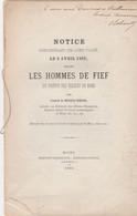 Mons , Notice Concernant Un Acte Passé, Le 5 Avril 1499 Devant Les Hommes Du Fief Du Prévot  Des églises De Mons , 1885 - België