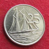 Cayman Islands 25 Cents 1992 KM# 90a  *V1  Iles Caymans Caiman Caimão Cent - Cayman Islands