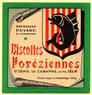 Buvard Biscottes Foreziennes. St. Denis De Cabanne, Loire. - Zwieback