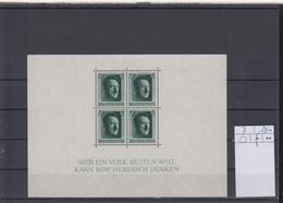 Deutsches Reich Michel Kat.Nr.  Block Falz/* 7 - Blocks & Sheetlets