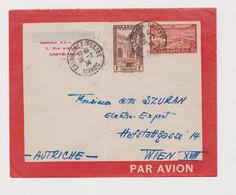 MORROCO CASABLANCA 1934 Airmail Cover To Austria - Brieven En Documenten