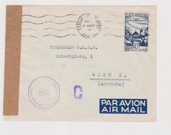 MORROCO CASABLANCA  Airmail Censored Cover To Austria - Luchtpost