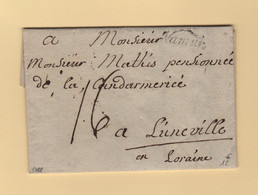 Belgique - Namur - 1788 - Destination Luneville - 1714-1794 (Paises Bajos Austriacos)