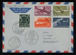 Liechtenstein 1960 Balloon Post Cover From Vaduz To Switzerland, With Aircraft Complete Set, MiNr. 391-394 [02830] - Storia Postale