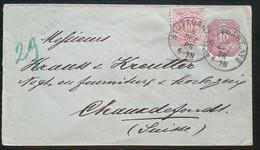 Württemberg 1886, Ausland Umschlag MiF STUTTGART Gelaufen Schweiz - Wuerttemberg