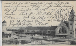 METZ LA NOUVELLE GARE 1908 - Metz