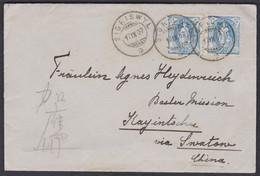 Schweiz - China 1907  /  Basler Mission China / Destinationsbeleg Der Spitzenklasse  / Stehende Helvetia 87A - Covers & Documents