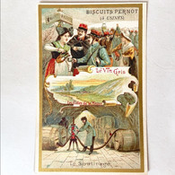 Biscuits Pernot - Le Vin Gris - Le Soutirage - Les Cotes De La Meuse /c3778 Chromo Image - Otros