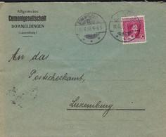 Luxembourg - Luxemburg -  Lettre  1916 - 17   CEMENTGESELLSCHAFT , DOMMELDANGE - STAHLWERKE - 1921-27 Charlotte Voorzijde