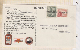 21B1708 PUB PLASMARINE CANARIES Las Palmas Timbres ESPAGNE Cachet Lineaire - 1961-70 Cartas