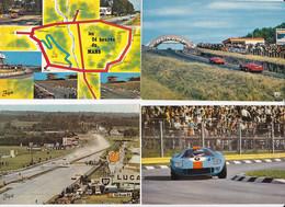 SARTHE LE MANS CIRCUIT DES 24 HEURES SUITE DE 10 CARTES POSTALES - Le Mans