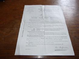 FF1 Document Fanrique De Couleurs D'Aniline Reiffenstein & Bernard Tournai 1903 - 1900 – 1949