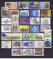 Belgien, Belgium #7 1987-90: 31diff. Gestempelt, Used, Obl - Collections