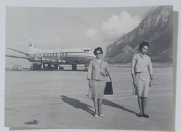 09581 Foto D'epoca 205 - Aereo Alitalia - Aeroporto Palermo 1962 - Aviation