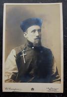 1900s Imperial China Boxer Rebellion Era Christian Missionary Pose Photo Belgium Studio CDV - Guerra 1914-18