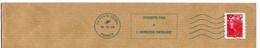 OMEC Oblitératrice NEOPOST IJO85 Flamme N'HABITE PAS A L'ADRESSE INDIQUEE Corrèze Ussac Pays De Brive CDIS ROC 22226A - Mechanical Postmarks (Advertisement)