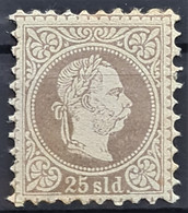 AUSTRIAN LEVANTE 1876/83 - MLH - ANK 6 II - 25sld - Levant Autrichien