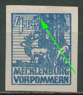 SBZ Mecklenburg-Vorpommern 1946 Abschiedsserie Plattenfehler 30 X XV Mit Falz - Zona Sovietica