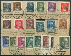 Sächsische Schwärzungen 1945 Wurzen 1/20 B Gestempelt, Briefstücke, Signiert - Zona Soviética