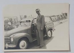 09669 Foto D'epoca 220 - FIAT 500 C Giardinetta - Bolognetta (Palermo) 1954 - Automobili