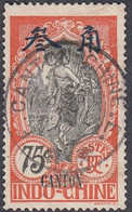 French Offices In Canton, Scott #60, Used, Indo-China Overprinted, Issued 1908 - Gebraucht
