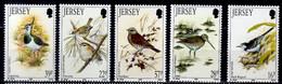 1992 Jersey Wintering Birds In Jersey MNH** MiNr. 563 - 567 White Wagtail Common Firecrest Fieldfare N. Lapwing - Jersey
