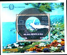 45706) Nel Blu, Dipinto Di Blu - BLOCCO FOGLIETTO - 25 Febbraio 2008-MNH** - Blocks & Sheetlets
