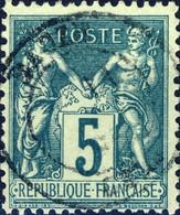 """France - CàD  Type 18 """" EAUZE / GERS """" Sur Yv.75 5c Sage T.II - TB - 1849-1876: Periodo Clásico"""