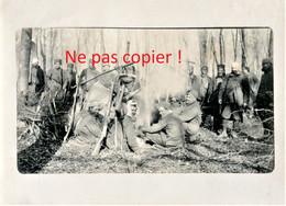 PHOTO FRANÇAISE 26e RAC - ZOUAVES ET TIRAILLEURS AU BIVOUAC - GUERRE 1914 1918 - 1914-18